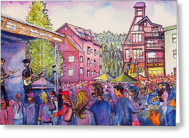 Lukas Nelson And Promise Of The Real Greeting Card by David Sockrider