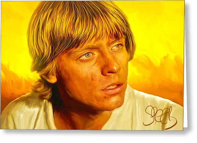 Luke Skywalker Greeting Card