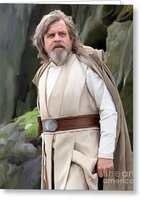 Luke Skywalker Greeting Card by Paul Tagliamonte