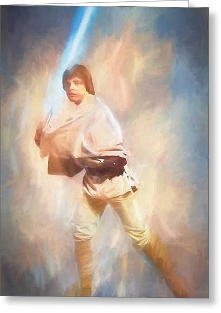 Luke Skywalker Watercolor Greeting Card