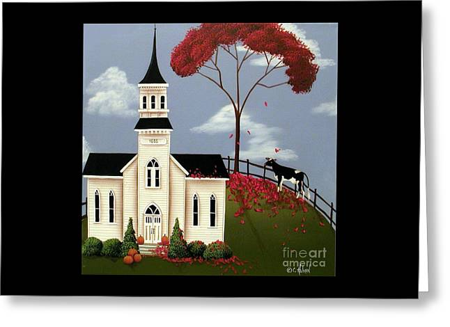 Lulabelle Goes To Church Greeting Card by Catherine Holman