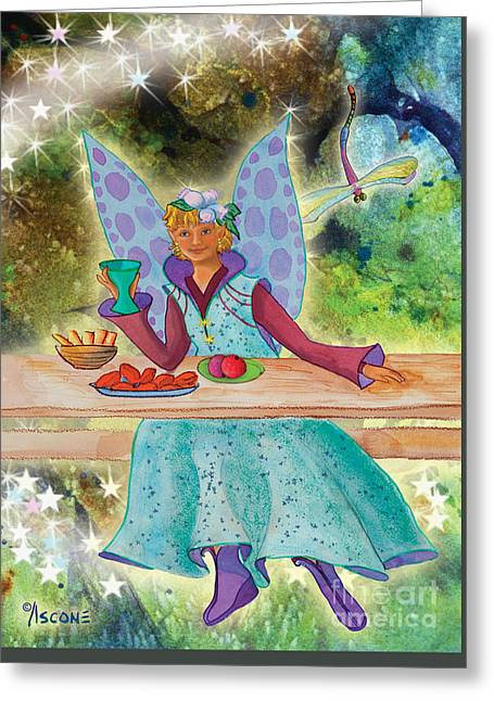 Lulu Beth Twinkle At The Banquet Greeting Card
