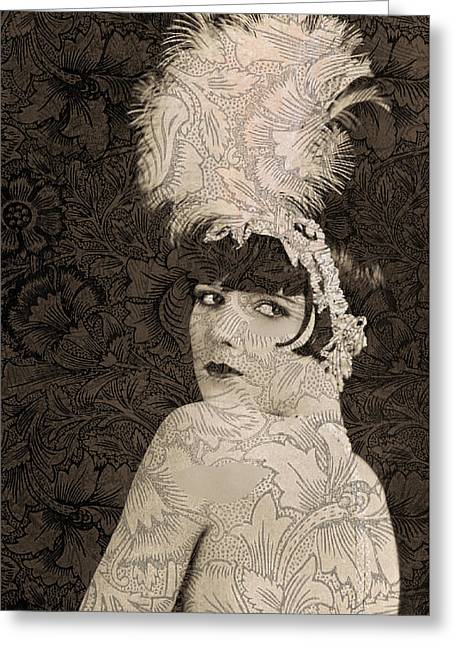Lulu In Hollywood Greeting Card by Sarah Vernon