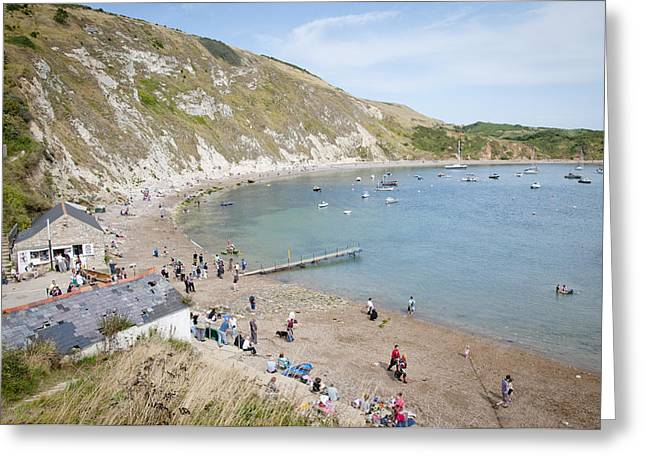 Lulworth Cove Dorset Uk Greeting Card by Andy Smy
