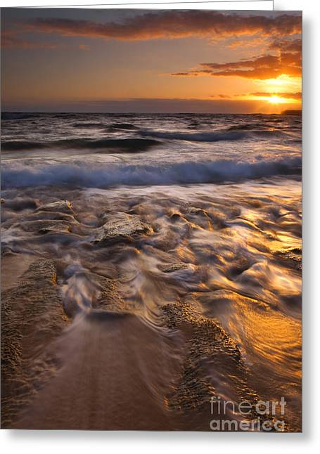 North Shore Greeting Cards - Lumahai Dawn Greeting Card by Mike  Dawson