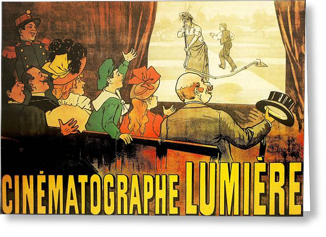 Lumiere Cinematographe Greeting Card by Georgia Fowler