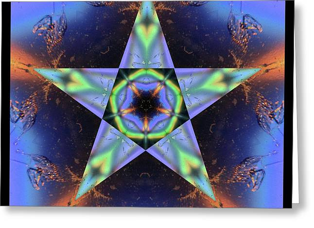 Sacred Geometry Photographs Greeting Cards - LumiMatter Greeting Card by Bell And Todd