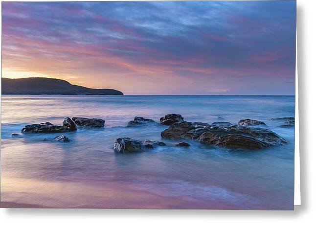 Luminescent Sunrise Seascape Greeting Card