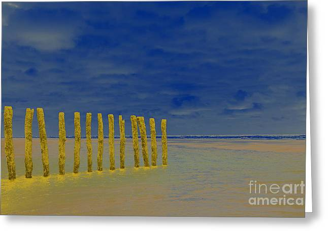 Luminous Beach Blue Sky Greeting Card