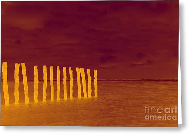 Luminous Beach Greeting Card by  Fotoping