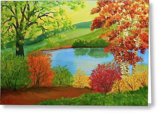 Luminous Colors Of Fall Greeting Card