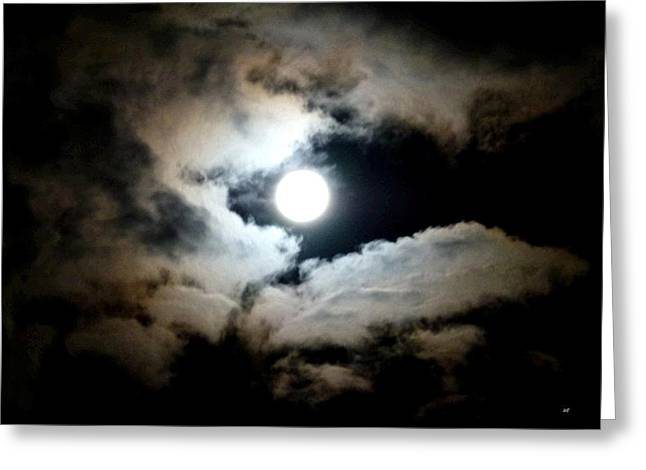 Luminous Moonlit Sky Greeting Card by Will Borden