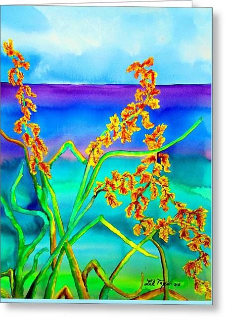 Greeting Card featuring the painting Luminous Oats by Lil Taylor