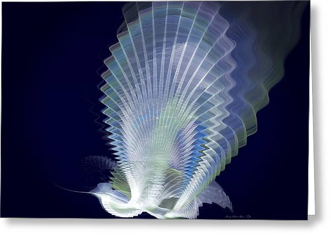 Luminous Peacock Greeting Card by Sherry Holder Hunt