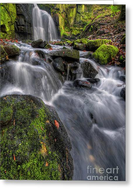 Greeting Card featuring the photograph Lumsdale Falls 5.0 by Yhun Suarez