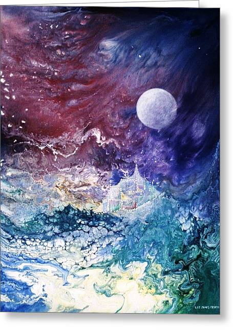 Luna Chrysalis Greeting Card by Lee Pantas