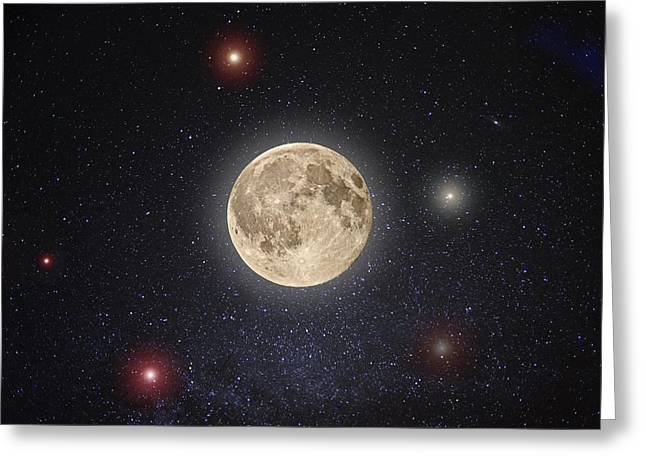 Full Moon Greeting Cards - Luna Lux Greeting Card by Steve Gadomski