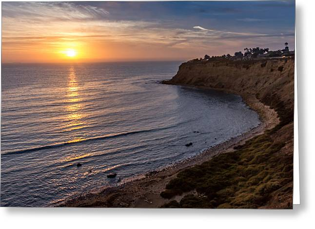 Lunada Bay Sunset Greeting Card