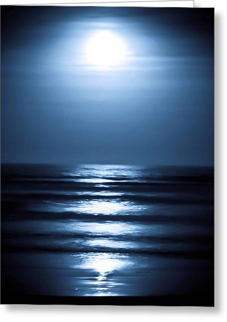 Lunar Dreams Greeting Card by DigiArt Diaries by Vicky B Fuller