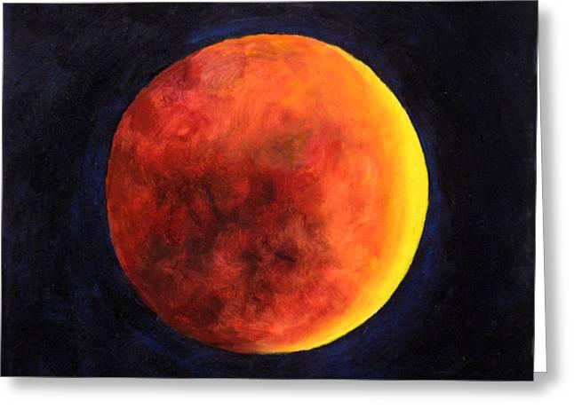 Lunar Eclipse Greeting Card by Marina Petro