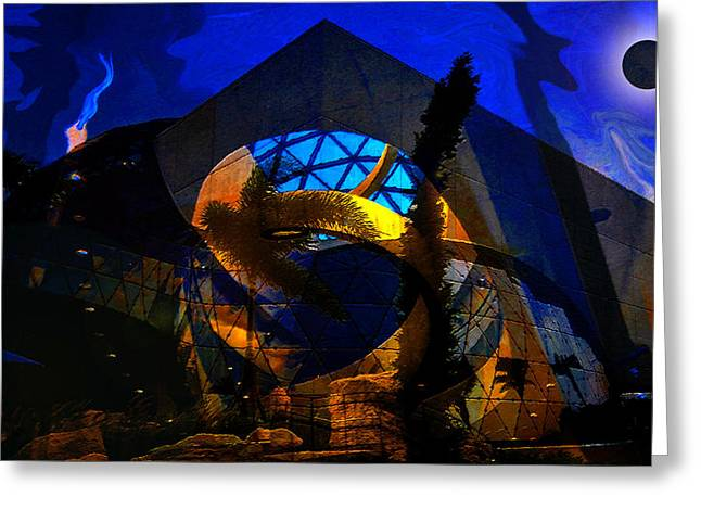 Lunar Eclipse Over The Dali Greeting Card by David Lee Thompson