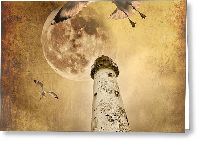 lunar flight Greeting Card by Meirion Matthias