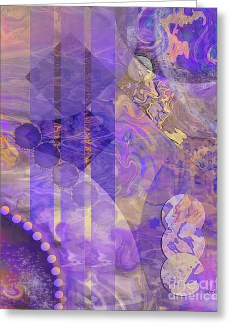 Lunar Impressions 2 Greeting Card by John Beck