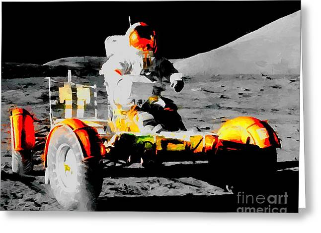 Lunar Roving Vehicle Greeting Card by Art Gallery