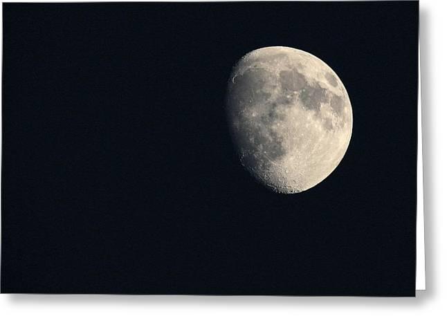 Lunar Surface Greeting Card by Angela Rath