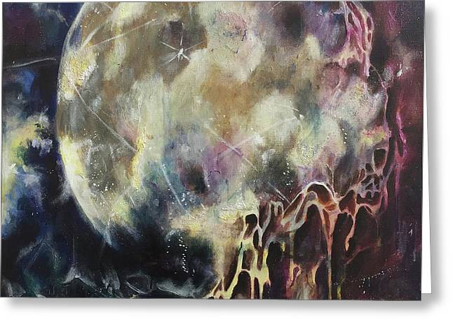 Lunar Transformation Greeting Card by Amy Williams