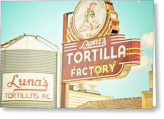 Luna's Silo And Sign Greeting Card by David Waldo