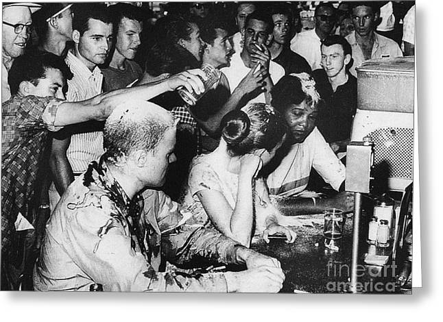 Lunch Counter Sit-in, 1963 Greeting Card