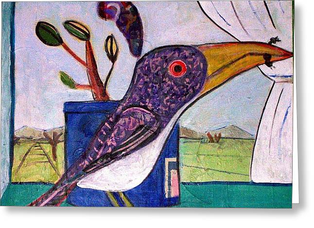 Lunch Greeting Card by Dave Kwinter