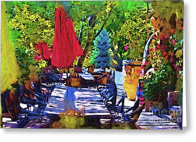 Lunch In Wine Country Greeting Card