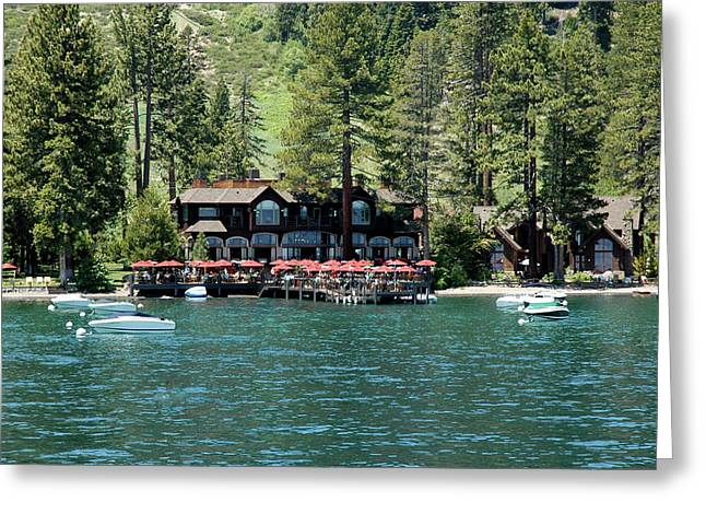 Lunch On Lake Tahoe Dock Greeting Card