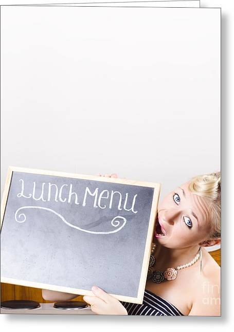 Lunch Time Menu Greeting Card by Jorgo Photography - Wall Art Gallery