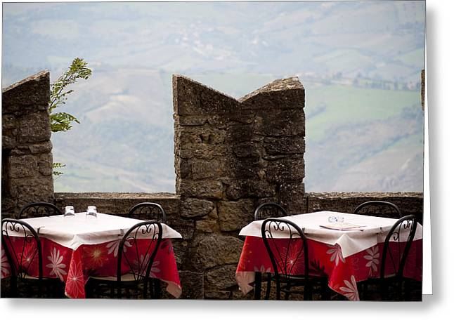 Lunch With A View Greeting Card by Rae Tucker