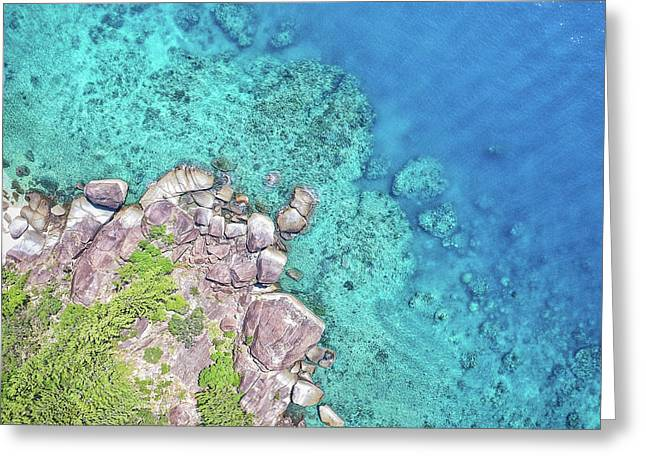 Greeting Card featuring the photograph Luncheon Bay, Hook Island by Keiran Lusk