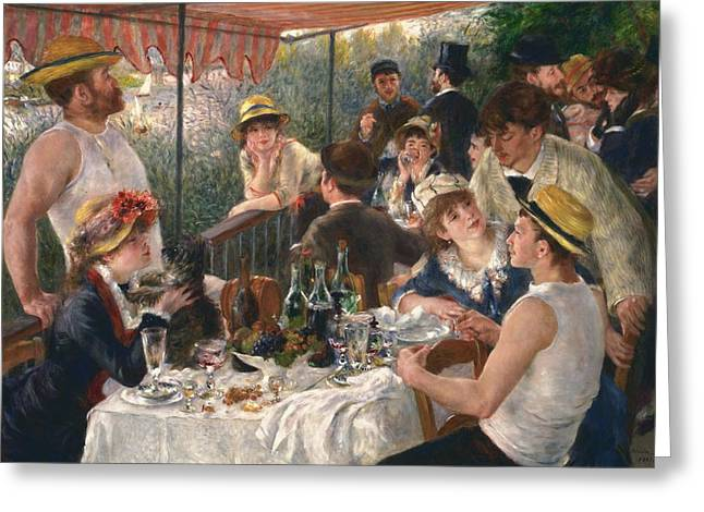 Luncheon Of The Boating Party By Renoir Greeting Card