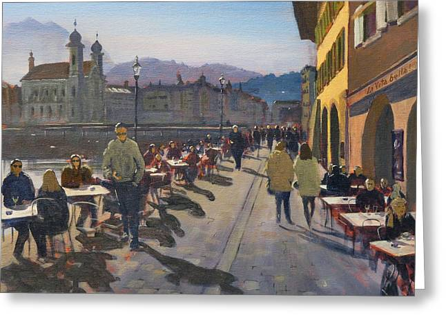 Lunchtime In Luzern Greeting Card