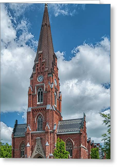 Greeting Card featuring the photograph Lund All Saints Church by Antony McAulay