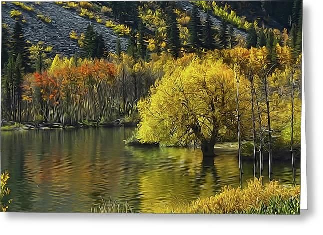 Lundy Lake Beauty Greeting Card