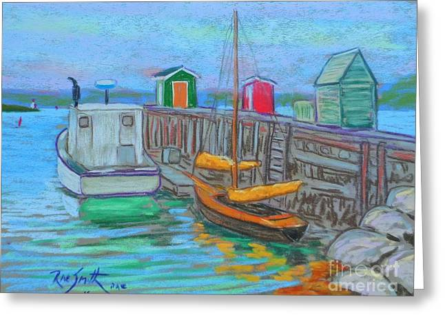Lunenburg Waterfront  Greeting Card by Rae  Smith