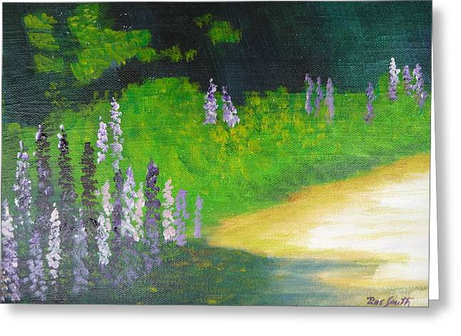 Lupens On Buccaneer Road Greeting Card by Rae  Smith