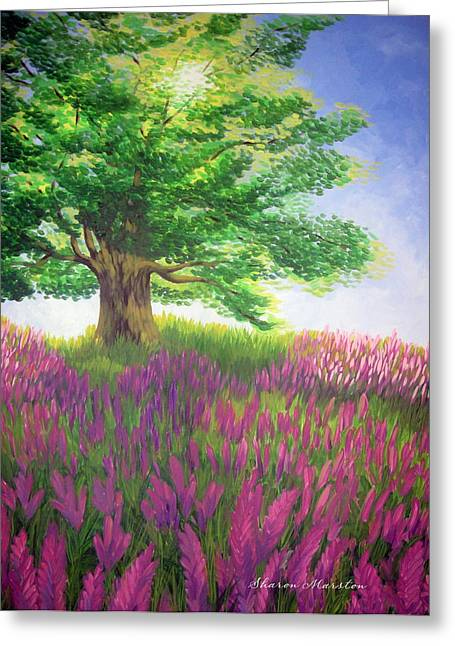 Lupine Afternoon Greeting Card by Sharon Marcella Marston