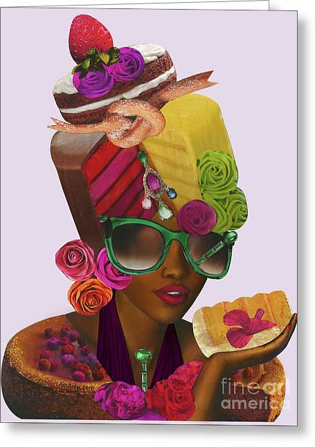 Lupita Wears Her Cake And Eats It Too Greeting Card