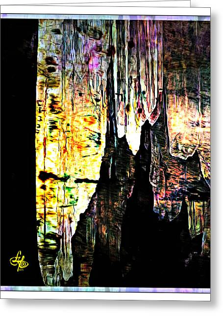 Luray Cavern Abstract 2 Greeting Card
