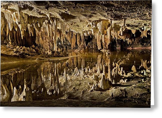 Luray Caverns - Virginia - Reflections At Dream Lake Greeting Card by Brendan Reals