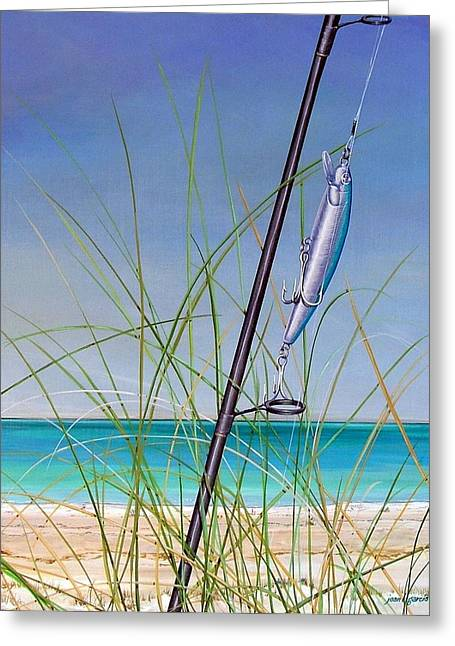 Anna Maria Island Greeting Cards - Lure of the Island Greeting Card by Joan Garcia