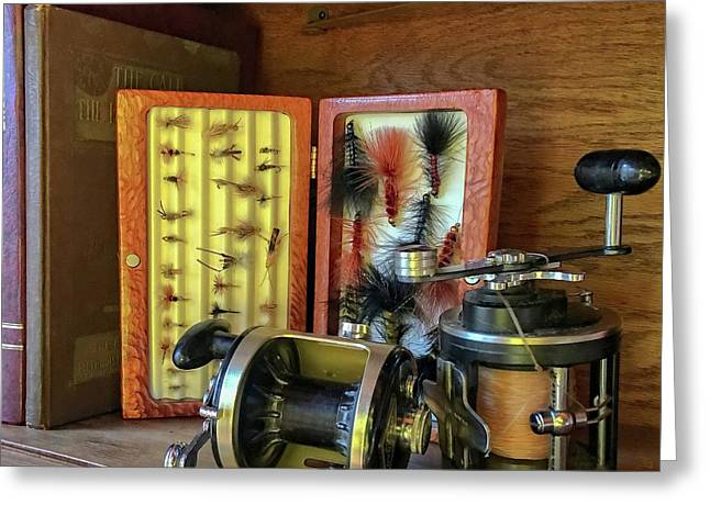 Lures And Reels Greeting Card